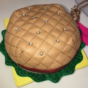 "Authentic New ""Nice Buns"" Betsey Johnson Wristlet"